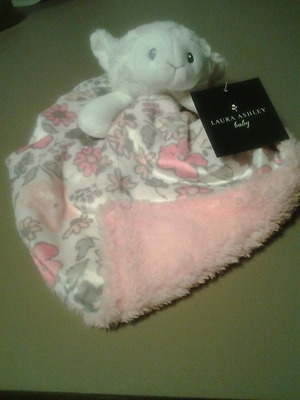 Laura Ashley Lamb Baby Girl Security Blankie Blanket Lovey New Floral Sherpa