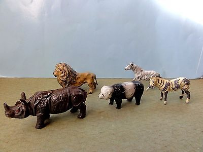 Vintage Lead Assorted Zoo Animals Britains?