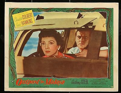 OUTPOST TO MALAYA Claudette Colbert ORIGINAL 1952 MOVIE LOBBY CARD 11 x 14