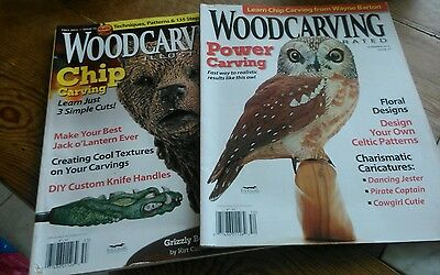 2 Woodcarving magazines. Woodwork. Carving.