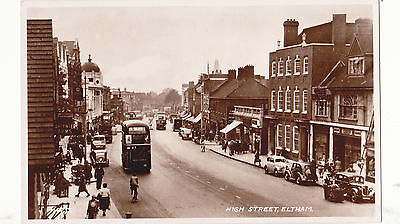 Kent postcard - HIGH STREET, ELTHAM by Valentines late 1940's