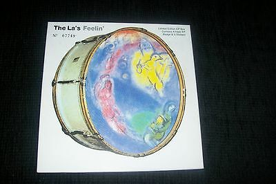 """The La's Feeling Box Set 7"""" Record With 3 Sticker + Badge Limited Stairs Coral"""
