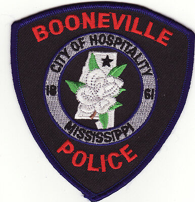 MS Booneville Mississippi Police Patch *New*