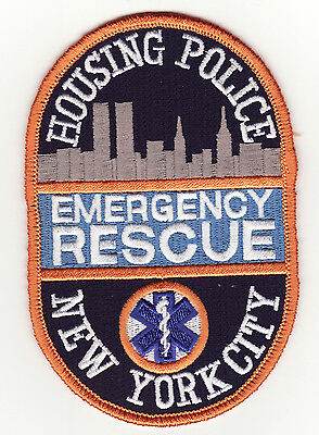 NY New York City Emergency Rescue Housing Police Patch *New*