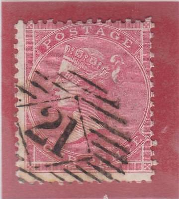 1858 4d. deep rose SG 66a - fine used. Cat. £200.