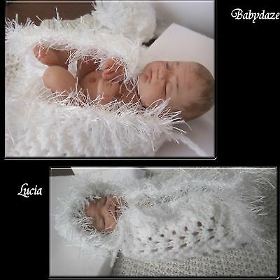 "Ooak Artist Unique  Hand Sculpted 5"" + -  Polymer Clay  Baby Girl. Lucia"