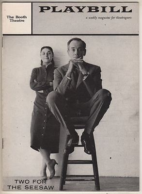 """Anne Bancroft & Henry Fonda  Broadway  Playbill """"Two For The Seesaw"""" 1958"""