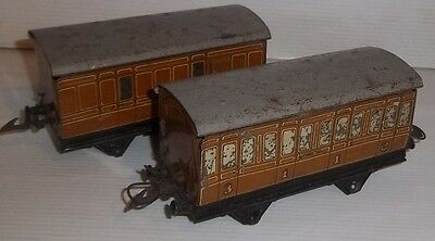 2 HORNBY O GAUGE NO1 LNER 1ST & 3RD & BRAKE COACHES For Restoration
