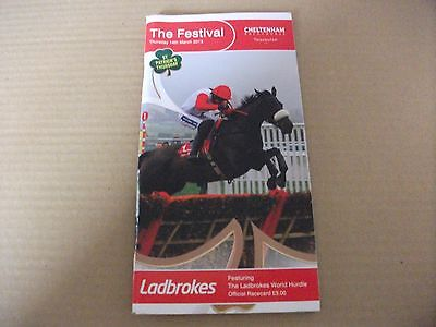 Cheltenham Race Card - March 14Th, 2013 - The World Hurdle & Solwhit