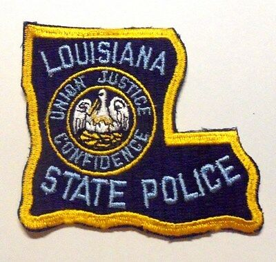 Louisiana State Police State Shape Patch Unused