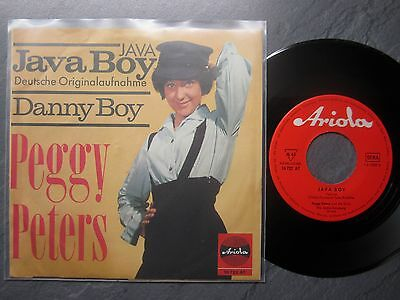 "7"" PEGGY PETERS  Java Boy  ARIOLA 10 722"