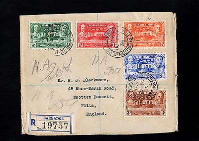Barbados 1939 Kg Vi Trecentenary Of Assembly Registered First Day Cover With Cds