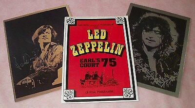 Led Zeppelin Earl's Court 1975 Programme + Signed Pictures