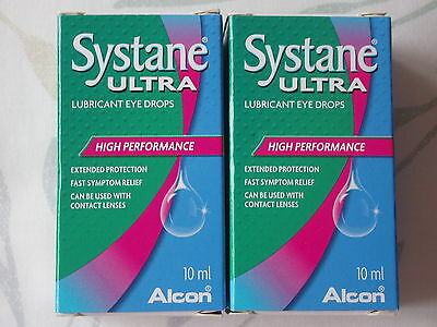 Alcon SYSTANE Ultra Lubricant Eye Drops - 10ml - Set of 2 - NEW