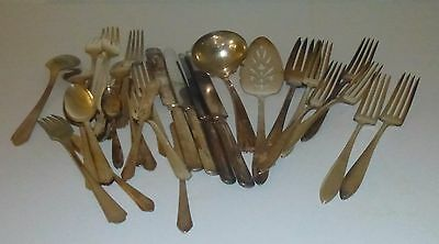 Lot of 33 Silver Plated Flatware Various Patterns