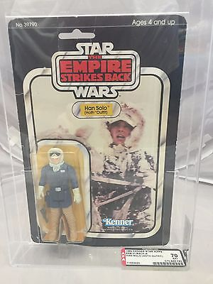 Vintage Star Wars Afa Graded 1980 Esb 31 Back-A Han Solo Hoth Outfit Moc Mosc