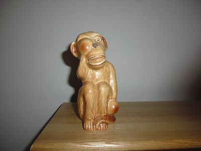 "Rare vintage Sylvac  ""Monkey with Boxing Gloves"", model 3141. Brown and beige."
