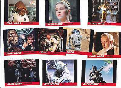 STAR WARS Topps USA 1995 Full Set Of 10 Trading Cards Only £1.99 POSTFREE UK