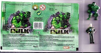 Marvel Comics Incredible Hulk + General Ross 2004  Egg Toys + Wrapper FREEPOST