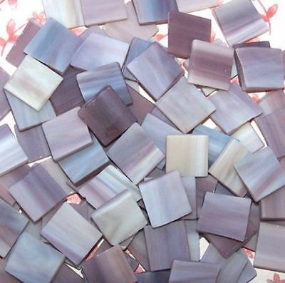 """100 1/2"""" Dusty Lavender Tumbled Stained Glass Mosaic Tiles Tile"""