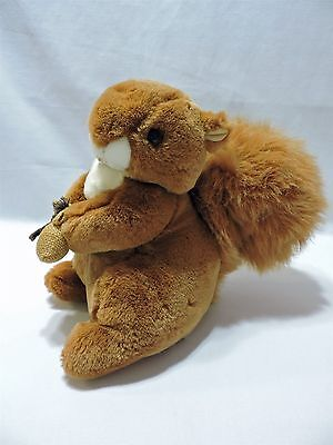 "Eden Squirrel Nutkin Plush Stuffed Animal Toy Brown Holding Sack 10"" Soft Cute"