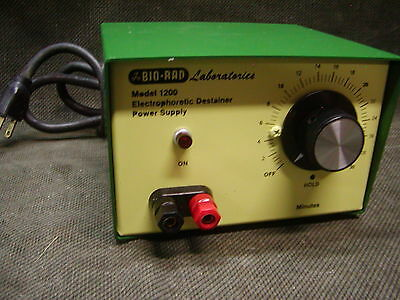 Bio-Rad Electrophoretic Destainer Power Supply Model 1200