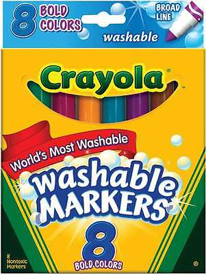 Crayola Broad Line Washable Markers-Bold Colors 8/Pkg 071662078324