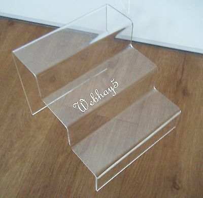 3 Step Counter Display Stand Acrylic
