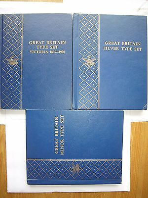 UK British Type Coins from 19ht CenturyVictoria to 20th century in Whitma Albums