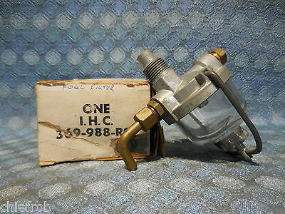 International Harvester NOS Glass Bowl Fuel Filter Tractor / Truck # 369-988-R91