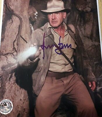 Official pix Harrison Ford as Indiana Jones 8x10 Autograph