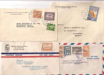 595 ECUADOR covers to GB & Europe mainly 1930s period (11 covers)
