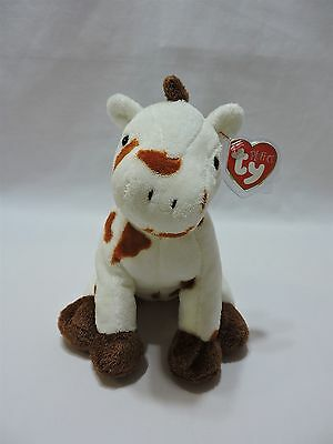 Ty Pluffies Gallops Horse Pony White Brown TyLux Plush Stuffed Animal Toy 2005