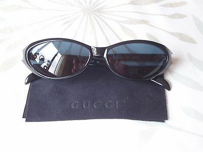 Gorgeous Genuine GUCCI  Black Frame Sunglasses With Case - NEW