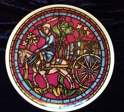 St. Lubin Window Staffordshire Bone China Plate Chartres Cathedral Plaque