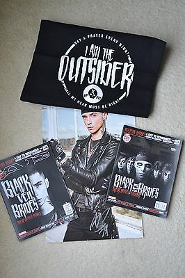 Black Veil Brides SIGNED poster AUTOGRAPHED by Andy Biersack + magazines & bag