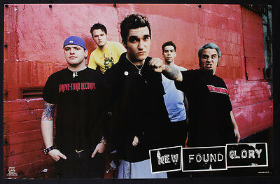 Rare Vintage 2002 New Found Glory Poster Music Rock Band Promo Punk - M16