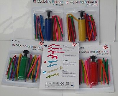 Modelling balloon kit pump with 15 balloons instructions for Dog,sword, Flower