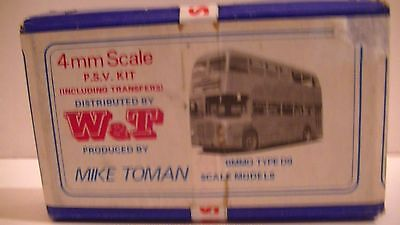 W & T WHITEMETAL 4mm SCALE KIT FOR BMMO TYPE D9 BUS