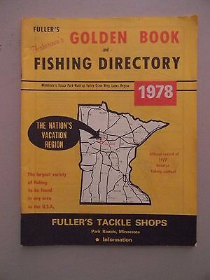 Fuller's Fishermen's Golden Book and Fishing Directory 1978 MN