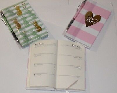 Hardback Slim 2017 DIARY & Pen GIFT SET  Week to View. 2 Designs to choose from.