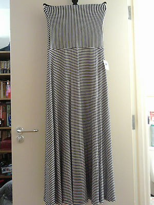 Gap Black & White Boobtube Maxi Dress New With Tags Size 12-14