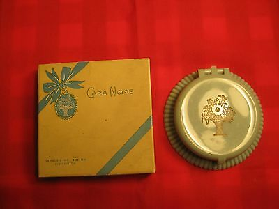 1940's vintage Cara Nome compact with box