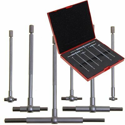 Telescoping T Bore Gauge 6 pc Cylinder Hole Smooth Gage Professional Set w/Case