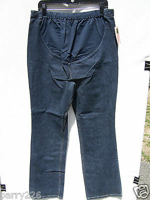 New Additions Maternity Over Belly Dark Wash Full Panel Denim Jeans Size 8 NWT