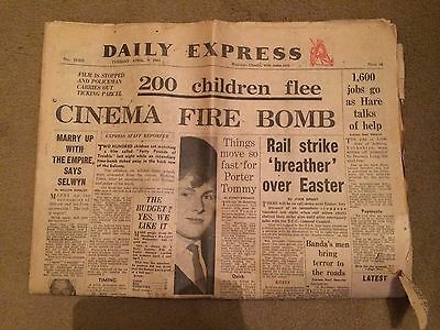 Daily Express  Newspapers 9 April 1963 - Fast Delivery
