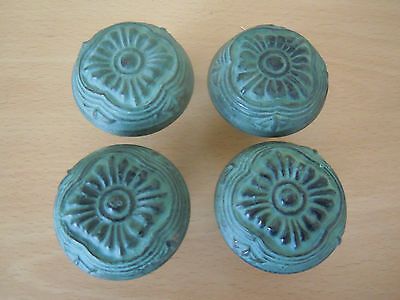Two Pairs Of Ornate Door Knobs