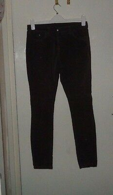 George Ladies Soft Suede Feel Stretch  Skinny Trouser Size 12 Vgc