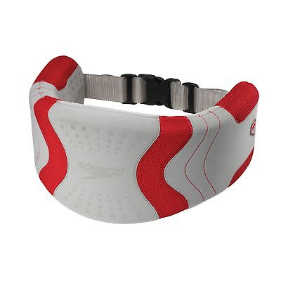 Speedo Aquatic Fitness Hydro Resistant Jog Belt Swim Training Aid - Silver/Red