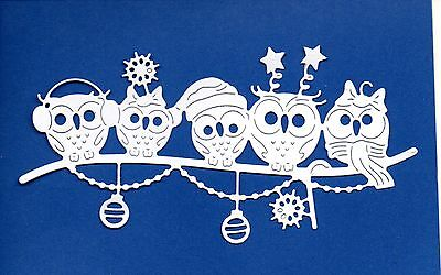 New Tattered Lace Owl  Family Die Cuts- Christmas  Bird Topper .